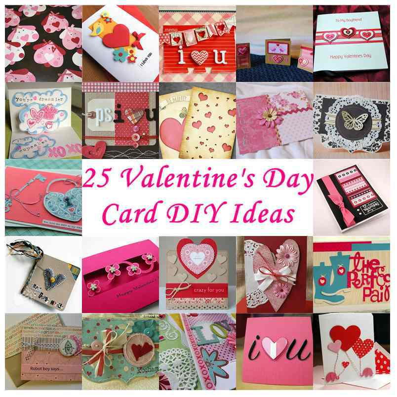 25 Valentines Decorations: 25 Valentine's Day Card DIY Ideas