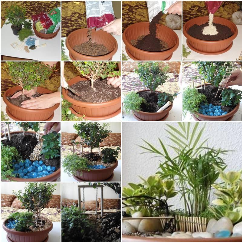 DIY Mini Garden In A Pot