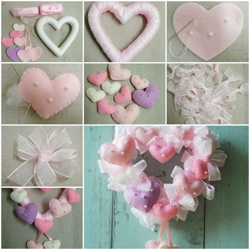52 Spectacular Diy Christmas Decorations You Must Try This: DIY Valentine's Day Heart Shaped Wreath