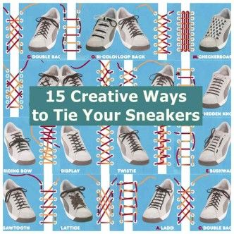 15 Creative Ways to Tie Your Sneakers1