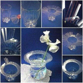 DIY Beautiful Vase with Plastic Bottle 1