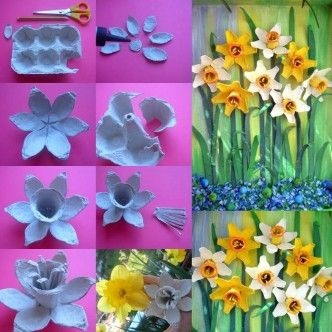 DIY Egg Carton Daffodil Flower thumb