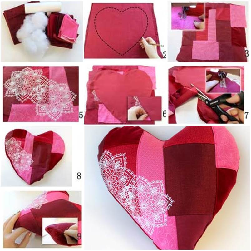 52 Spectacular Diy Christmas Decorations You Must Try This: DIY Heart Shaped Pillow
