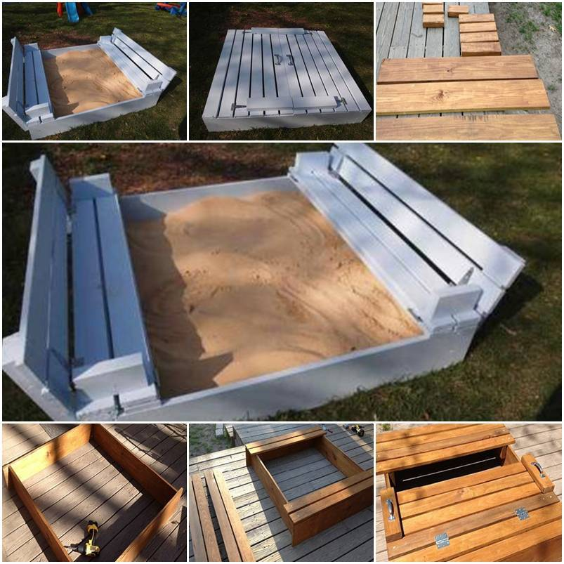 diy sandbox for kids. Black Bedroom Furniture Sets. Home Design Ideas