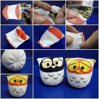 DIY Sock Owl thumb