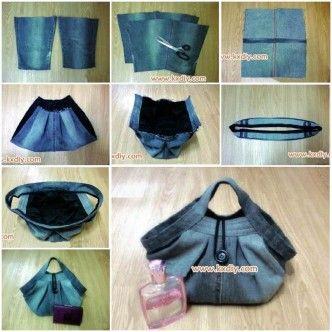 DIY Stylish Handbag from Used Jeans 1