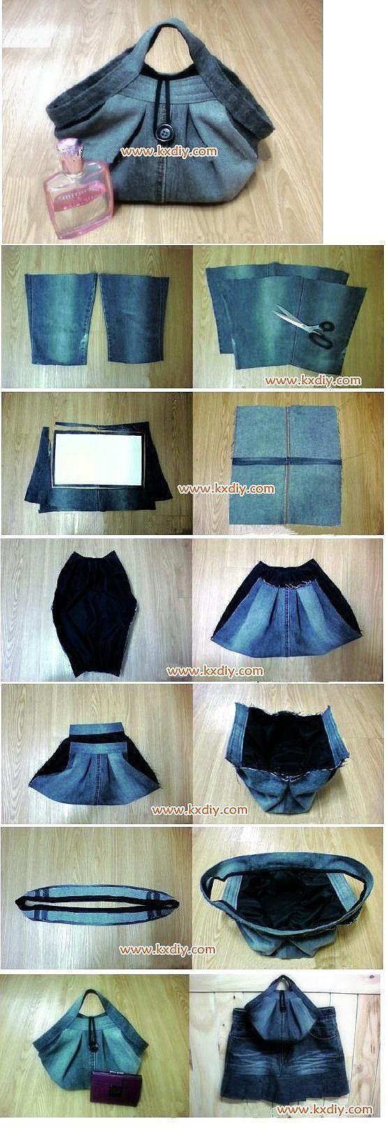DIY Stylish Handbag from Used Jeans 2