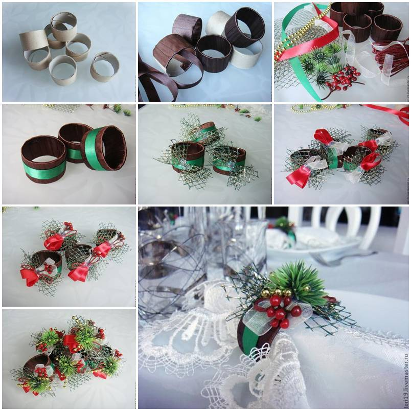 Diy toilet paper roll decorative napkin rings for Decorative paper rolls