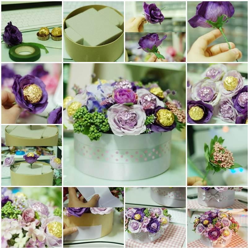 DIY Valentine's Day Chocolate Flower Bouquet