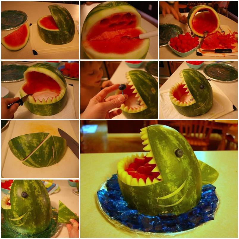 Food Art DIY - Watermelon Shark