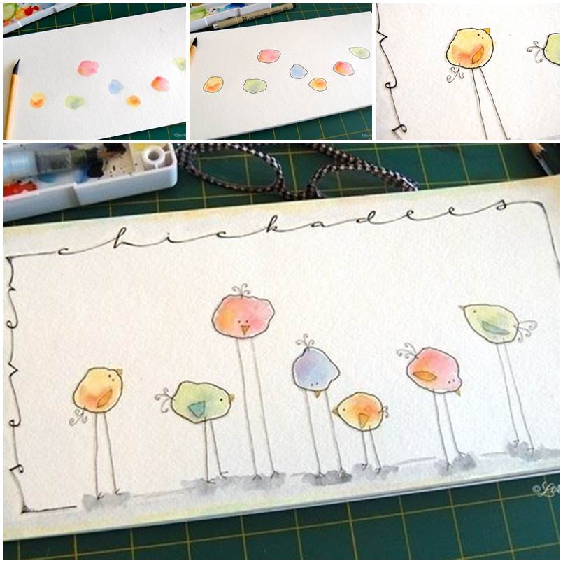 Creative-Ways-to-Draw-Funny-Birds-1 Paint Furniture Projects Home Diy on diy home projects building, diy home projects closet, do it yourself projects furniture, art projects furniture, diy home projects jewelry, diy home projects kitchens,