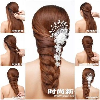 DIY Asymmetrical Braided Hairstyle 1