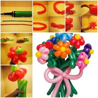 DIY Balloon Flowers 1