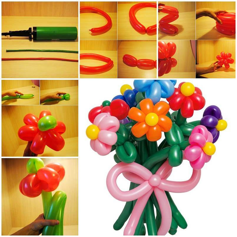 How to diy balloon daisy flowers for Diy balloon projects