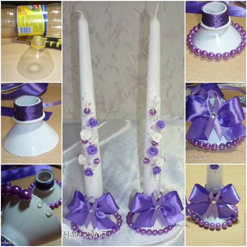 Diy Beautiful Candle Holder From Plastic Bottle