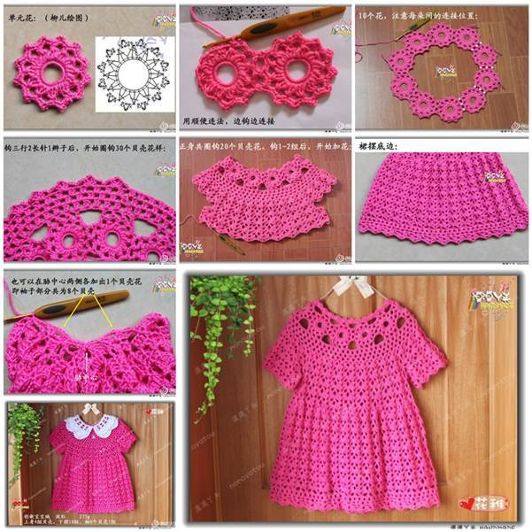 DIY Beautiful Crochet Dress for Girls 3