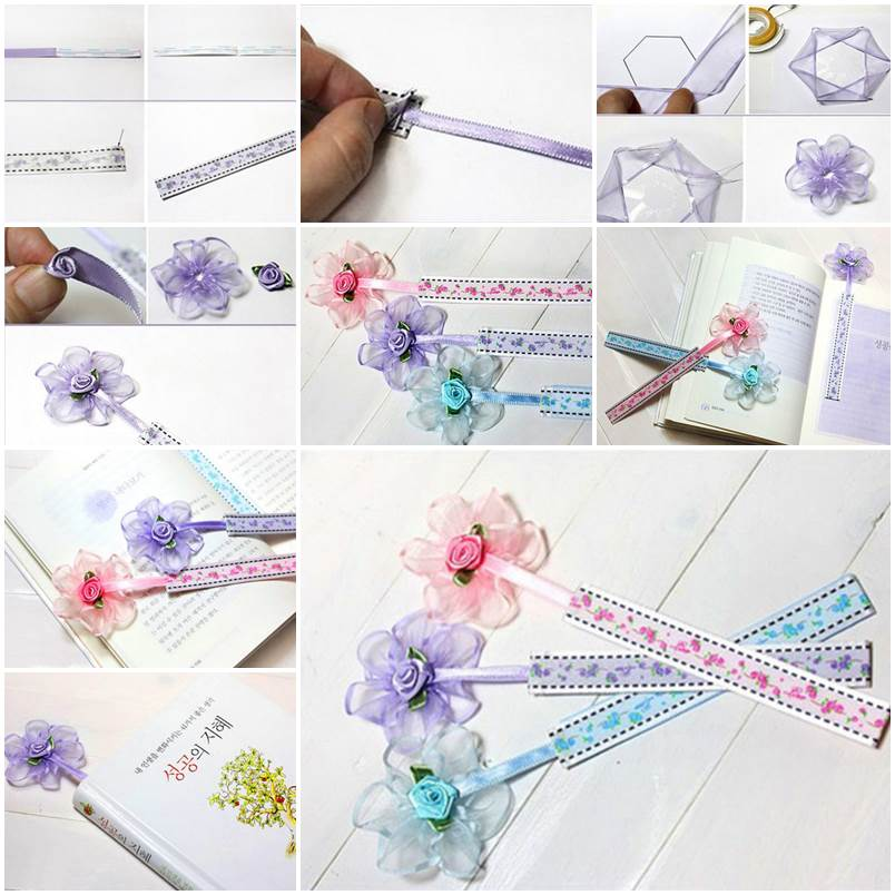 Diy cute origami heart shaped bookmark for Diy bookmarks for guys