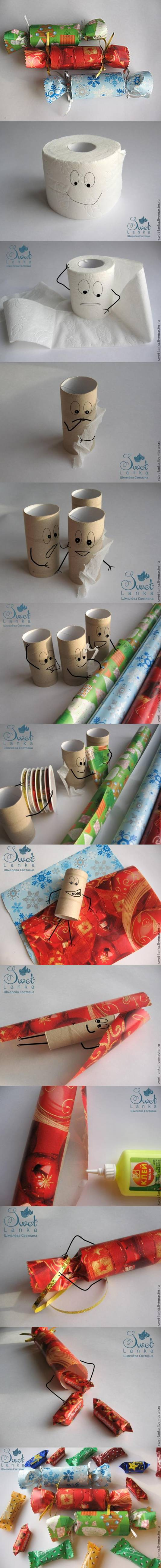 DIY Candy Shaped Candy Box from Toilet Paper Roll 2
