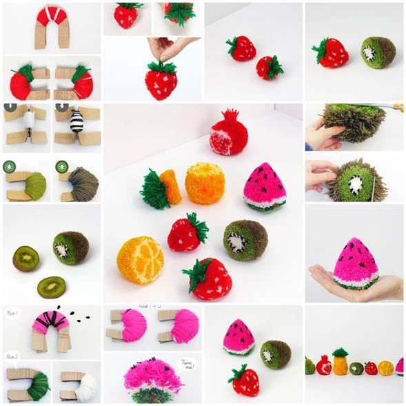 DIY Fruit Pom Poms 3