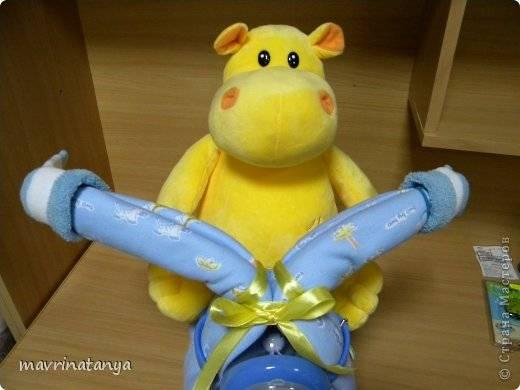 Diy Hippo On The Bike Diaper Gift Icreativeideas Com