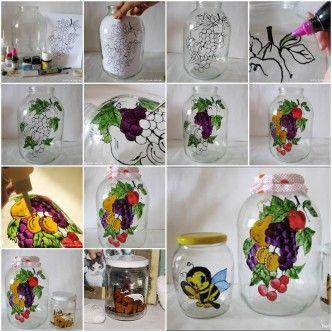 DIY Jar Painting Decor thumb