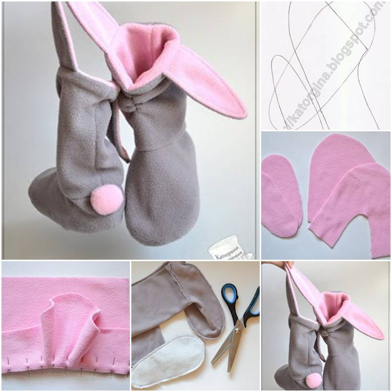 DIY Lovely Bunny Slippers 1