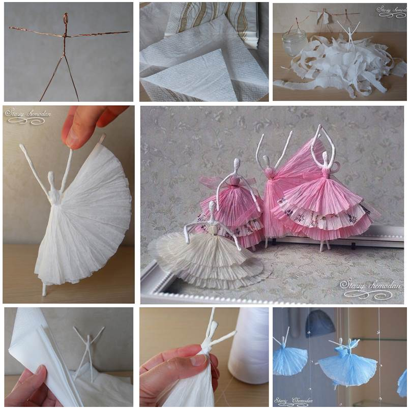 36 Easy And Beautiful Diy Projects For Home Decorating You: DIY Napkin Paper Ballerina