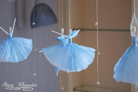 DIY Napkin Paper Ballerina