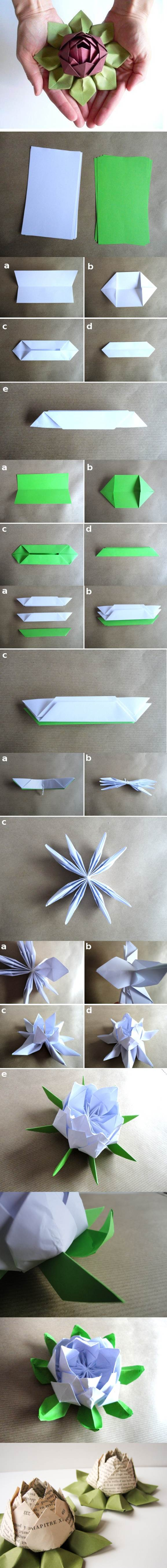 DIY Origami Lotus Flower 2