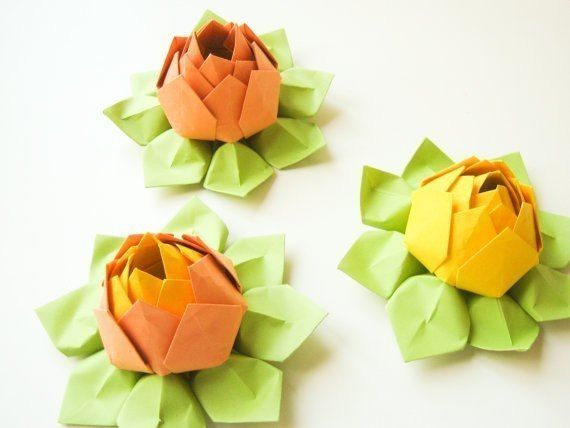 DIY Origami Lotus Flower 5
