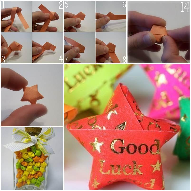 diy origami lucky stars