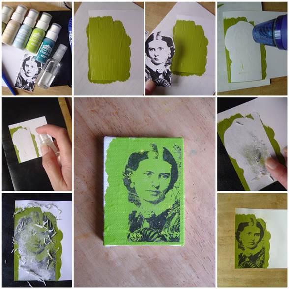 DIY Photo Transfer Using Acrylic Paint | ICreativeIdeas.com