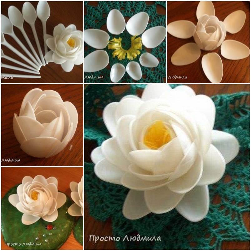 Цветы своими руками мастер класс из ложек