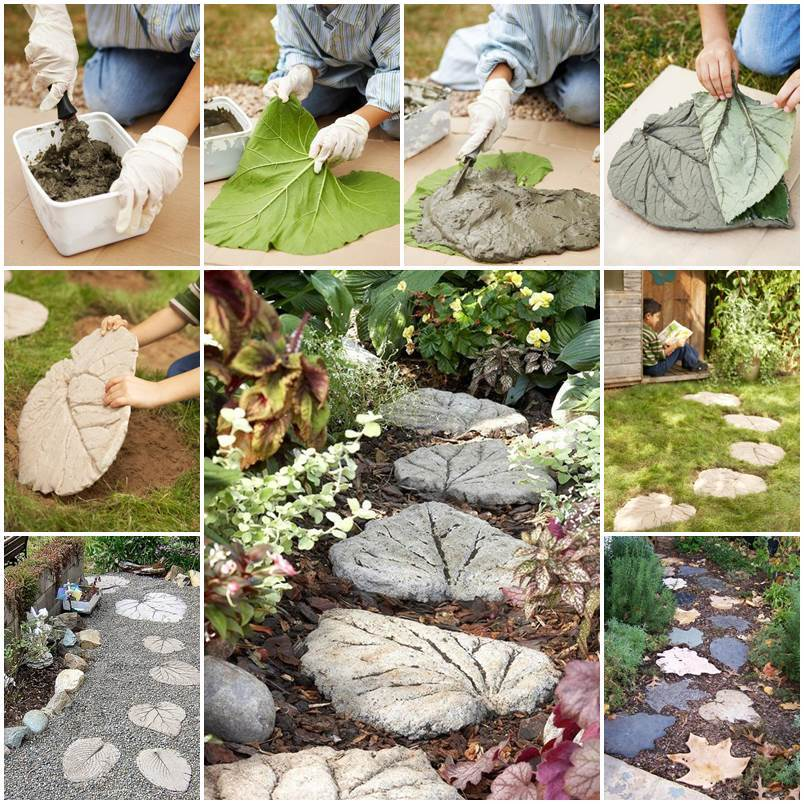 25 amazing diy projects to repurpose pallets into garden for Diy garden stepping stones