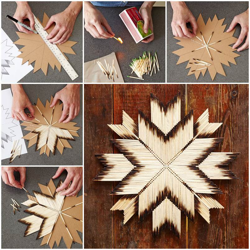 diy unique crafts of matches