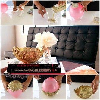 DIY Unique Glue and Glitter Bowl 1