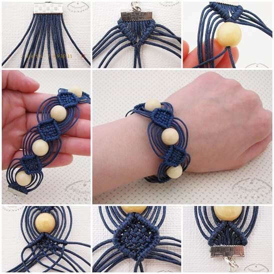 DIY Unique Macrame Beaded Bracelet 3