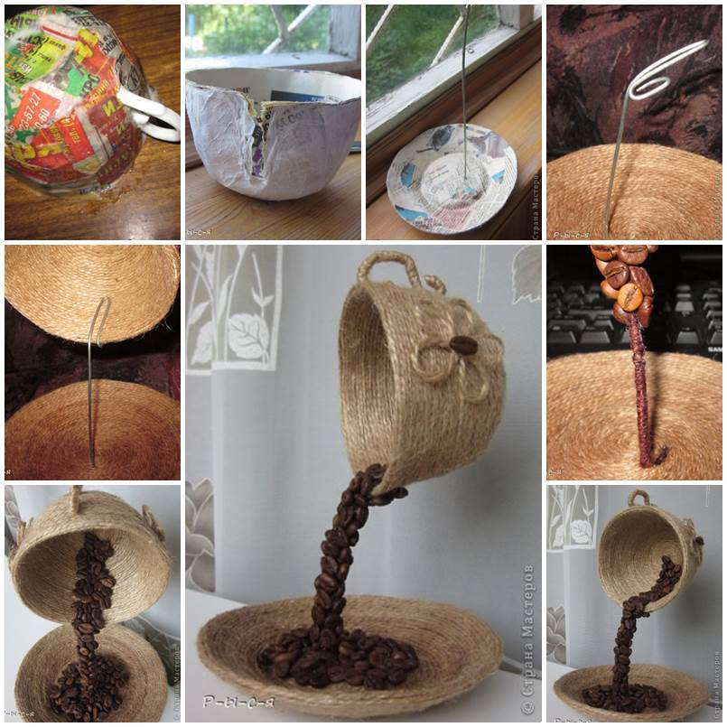 Click here for diy unique table decor with coffee beans