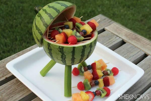 Food Art DIY – Watermelon Barbecue Grill