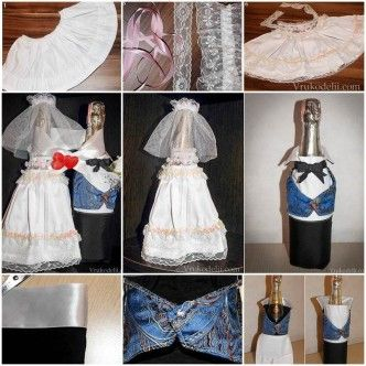 Wedding DIY - Bride and Groom Decorative Costumes for Wedding Champagne 1