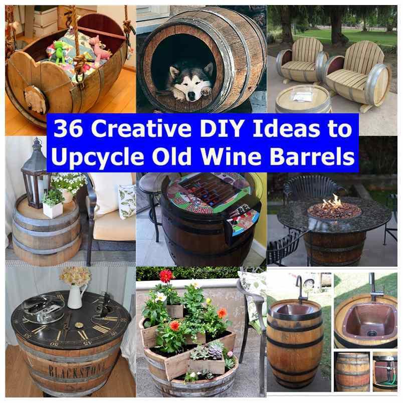 Creative Wine Barrels Outdoor Furniture