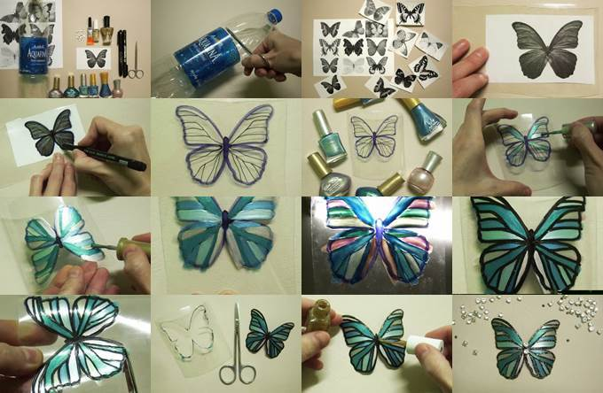 Diy beautiful butterfly from plastic bottle for Creative ideas using plastic bottles