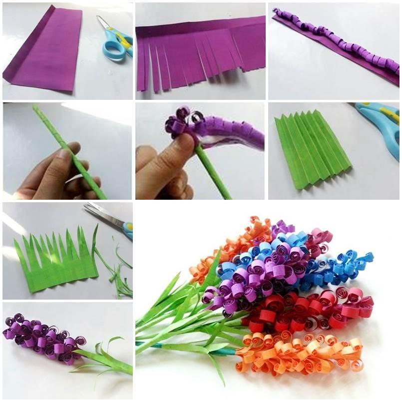 DIY Beautiful Curly Paper Flowers
