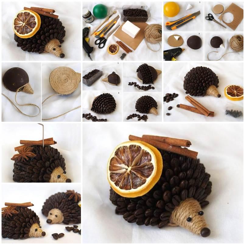 Поделки для детей из кофейных зерен своими руками