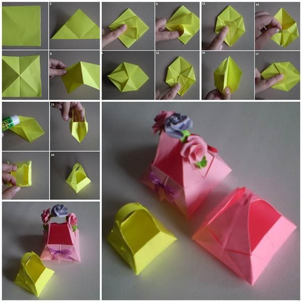 DIY Cute Little Origami Paper Basket