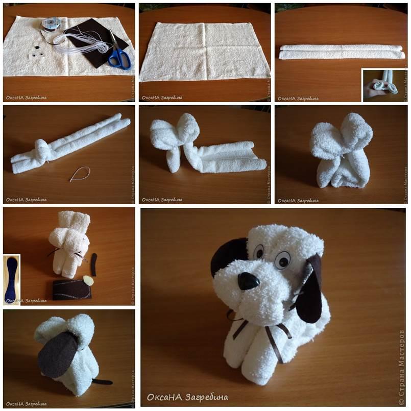 DIY Cute Towel Puppy