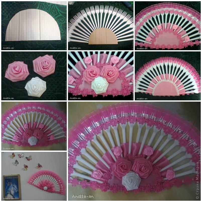 DIY Decorative Fan from Plastic Forks