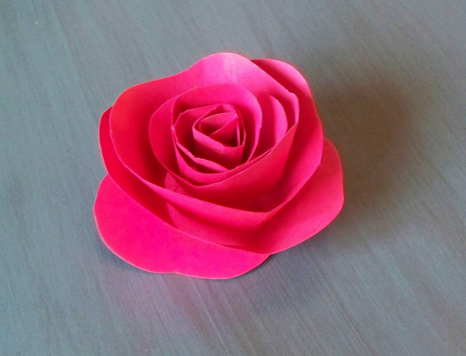 Сделать розу из бумаги фото пошагово