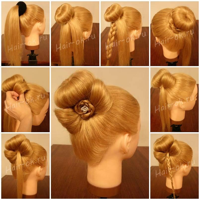 Wondrous Diy Elegant Bun Decorated With A Bow Short Hairstyles Gunalazisus