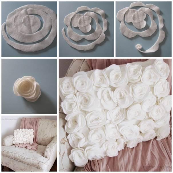 Creative Ideas Diy Pretty Fleece Flower Petal Pillows